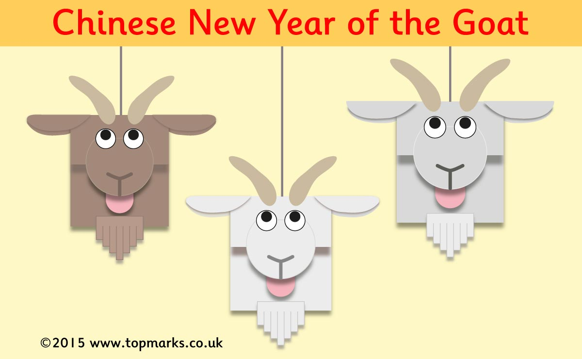 Make your own Chinese New Year Goat Mobile