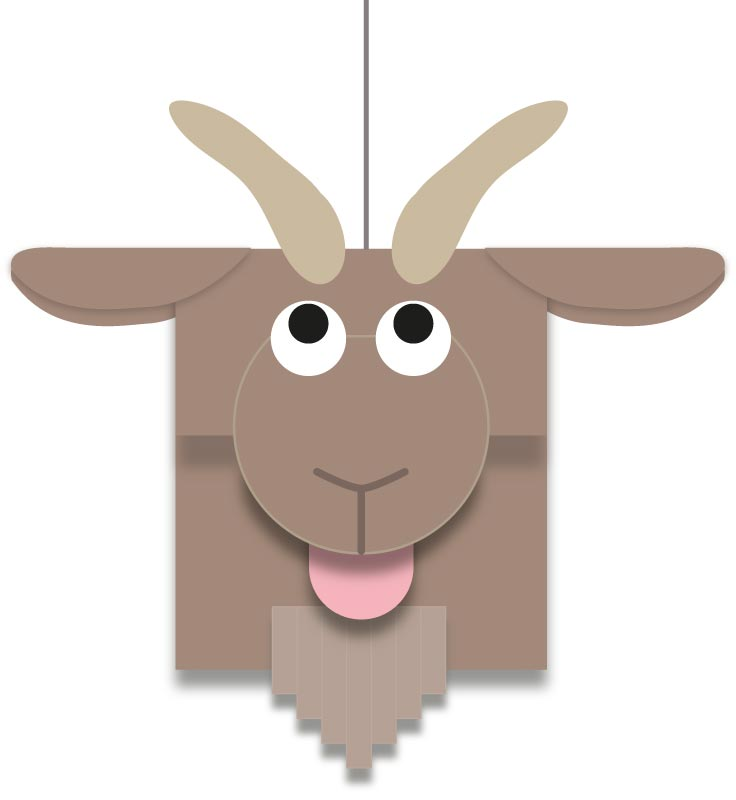 Add the thread to hang the goat mobile up
