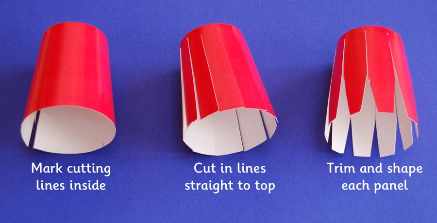 Cut the cup wall into strips and shape