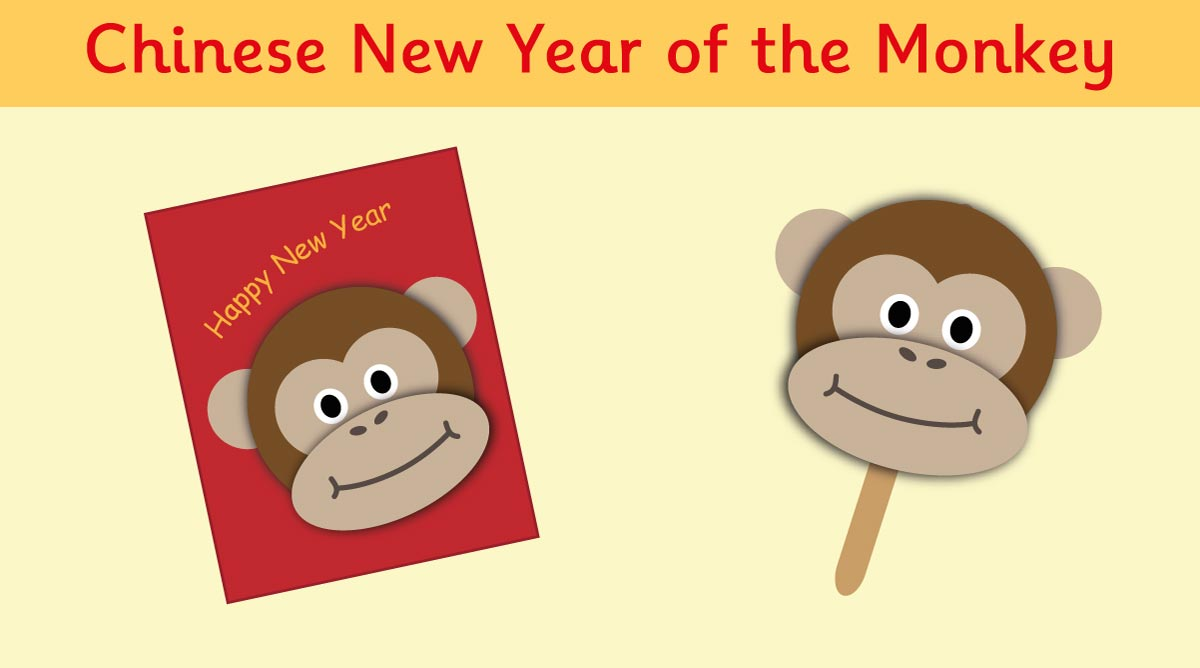 Make a Chinese New Year Monkey Card