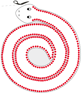 Draw more circles along the other side of the snake
