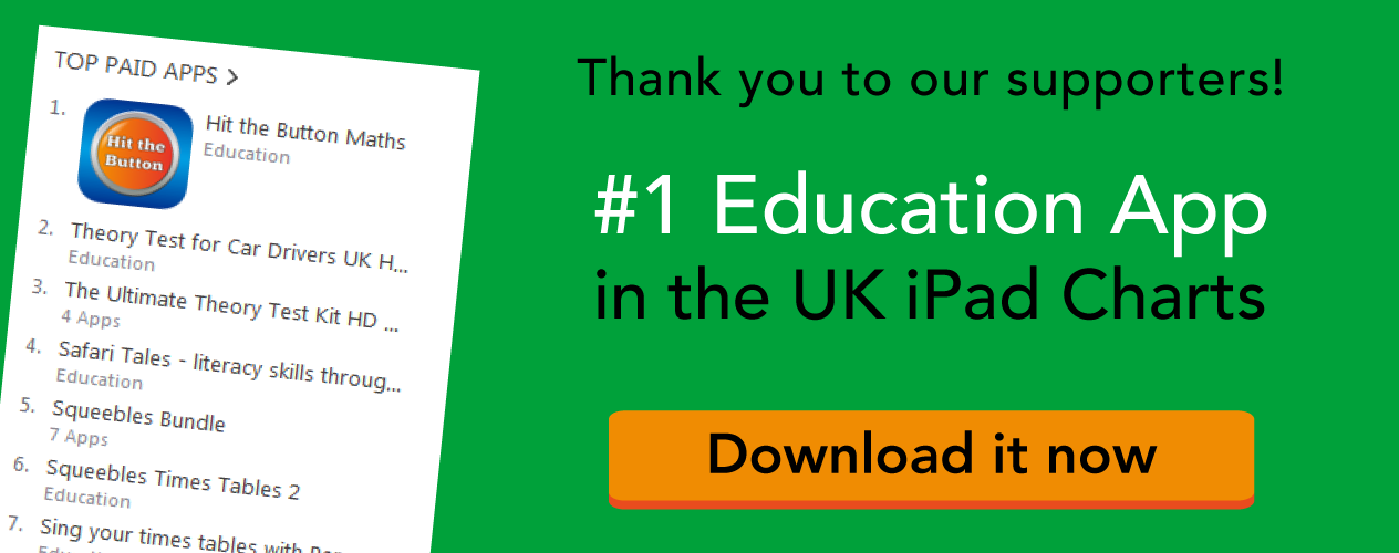 Hit the Button - #1 Education App in UK iPad Chart