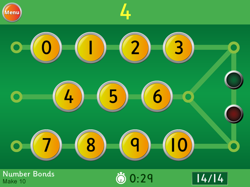Number Bonds - Make 10 Game