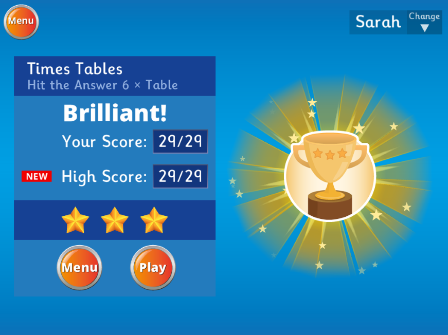Hit the Button - Win trophies depending on your score