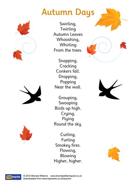Autumn Days Poem