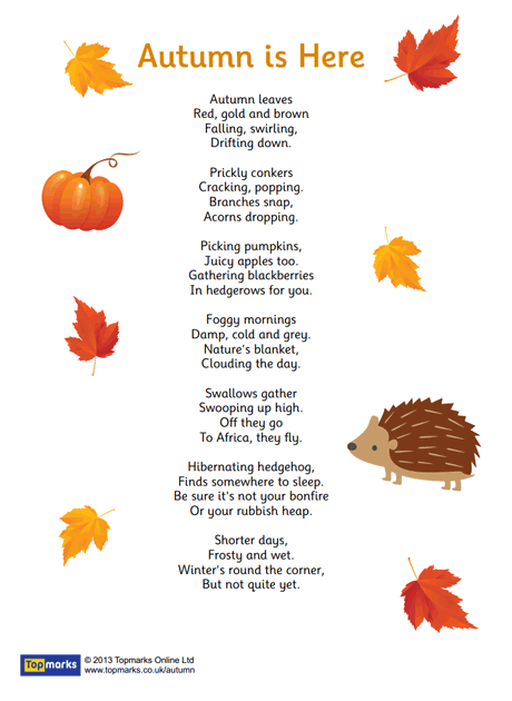 Autumn is Here Poem