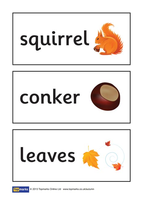 Autumn Topic Words