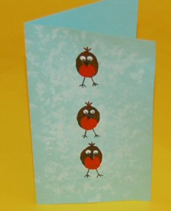 Cute Robins Christmas Card