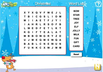 Christmas Wordsearch by ABCya