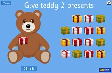 Christmas Teddy Numbers