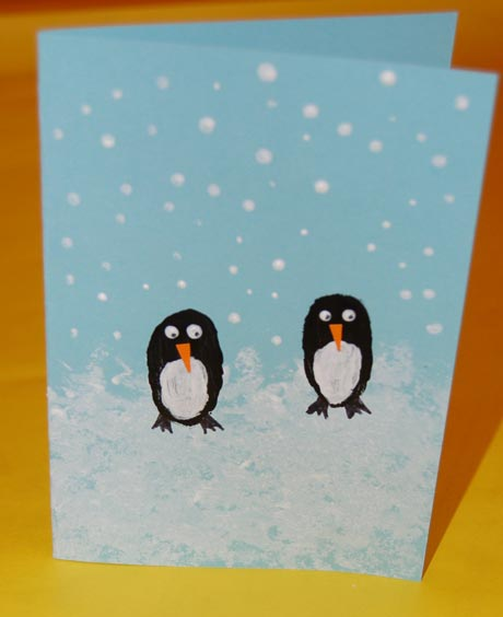 Perky Penguins Christmas Card