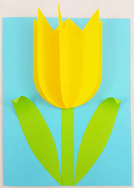 Make a Tulip Mother's Day Card