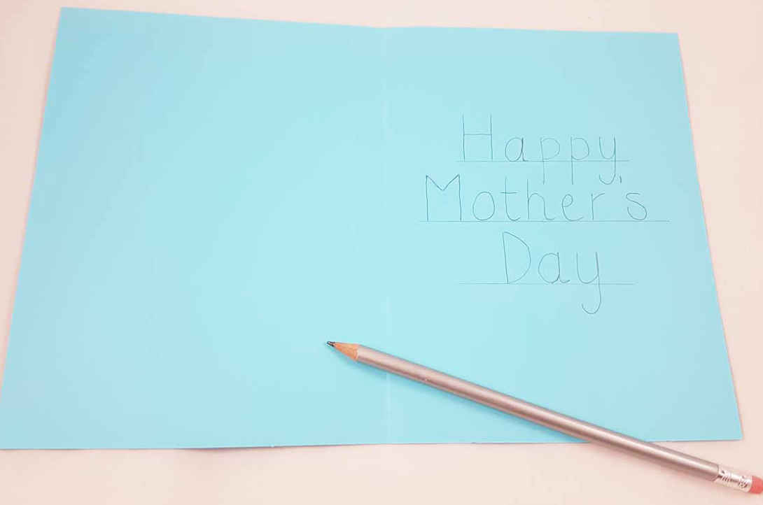 Fold the card and write your greeting