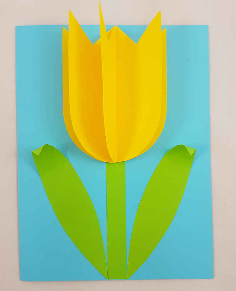 Make a Tulip Card for Mother's Day