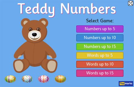 Easter Teddy Numbers - Learning to Count Game