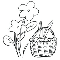 Easter Basket Colouring