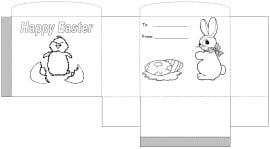 Easter Basket Template 2