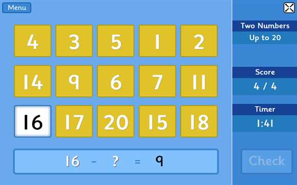 Featured Game: Subtraction Grids