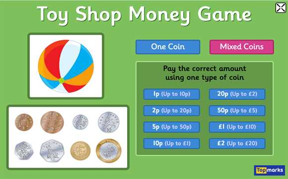 Featured Game: Toy Shop Money Game