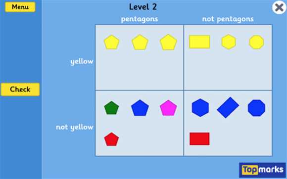 Featured Game: 2D Shapes Sorting Using Carroll Diagrams