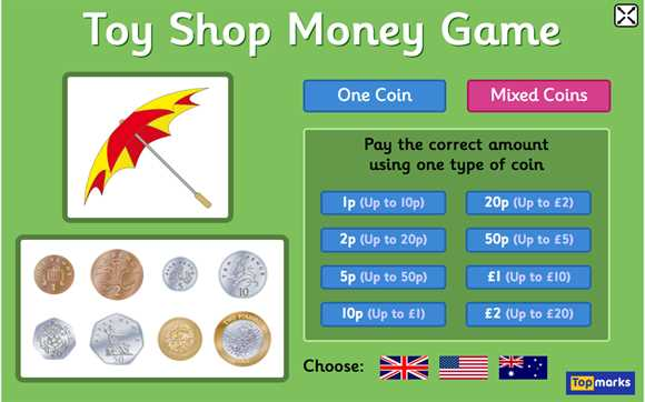Featured Resource: Toy Shop Money Game