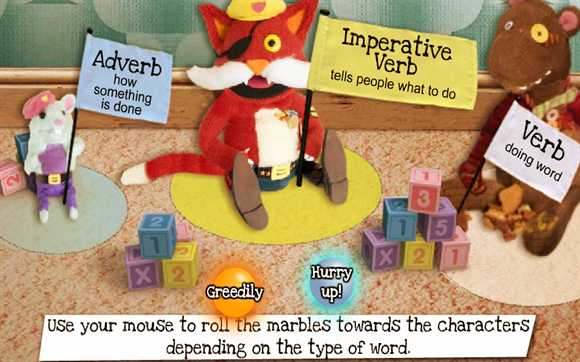 Featured Game: Verbs and Adverbs