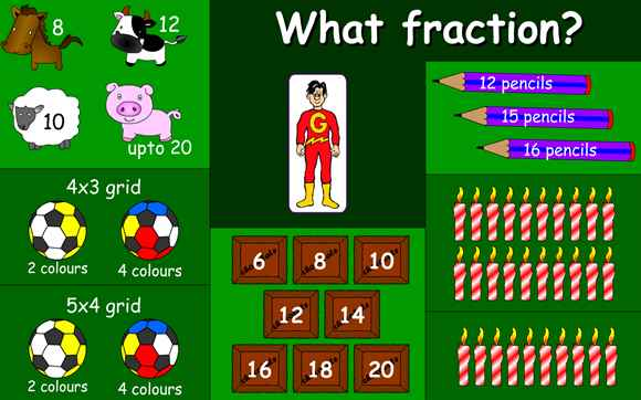 Featured IWB: What Fraction?