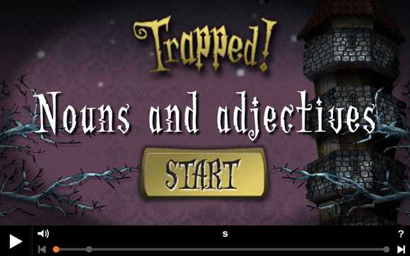 Featured Game: Trapped - Nouns and Adjectives