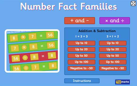 Featured Game: Number Fact Families