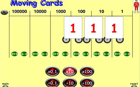Featured IWB: Moving Digit Cards