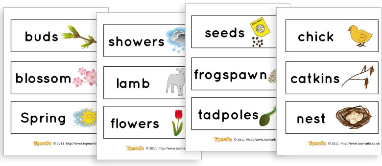 Spring Topic Words